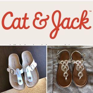 Cat & Jack Shoes - 2 pairs of Cat & Jack Girls Sandals